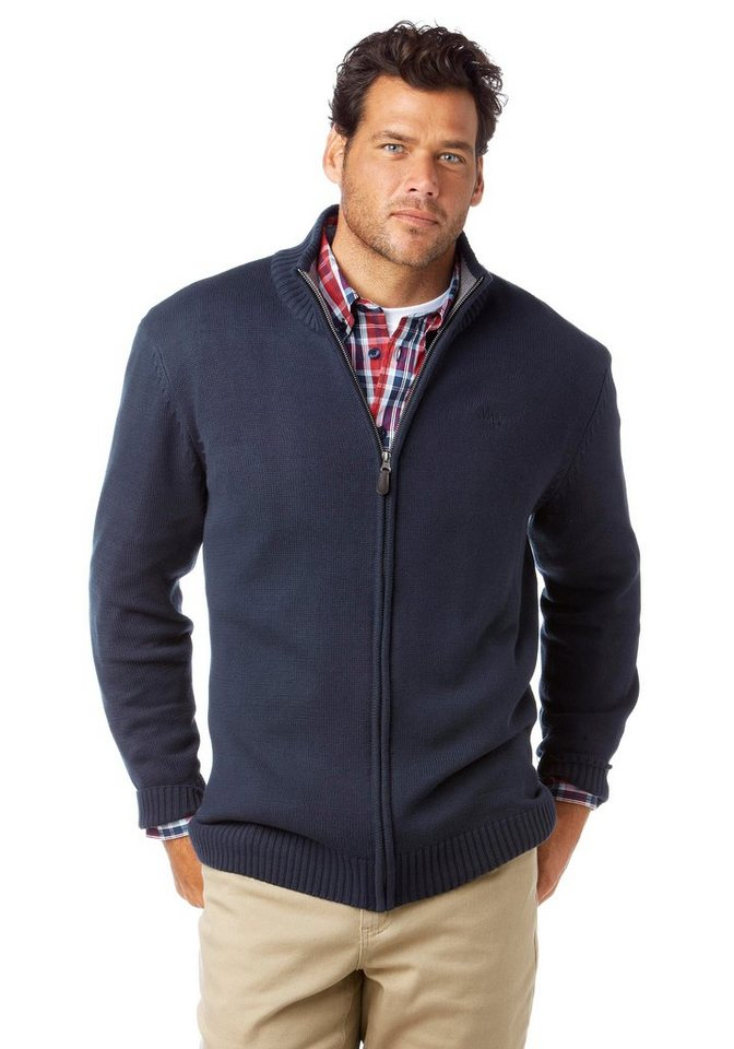 Man's World Strickjacke in marine