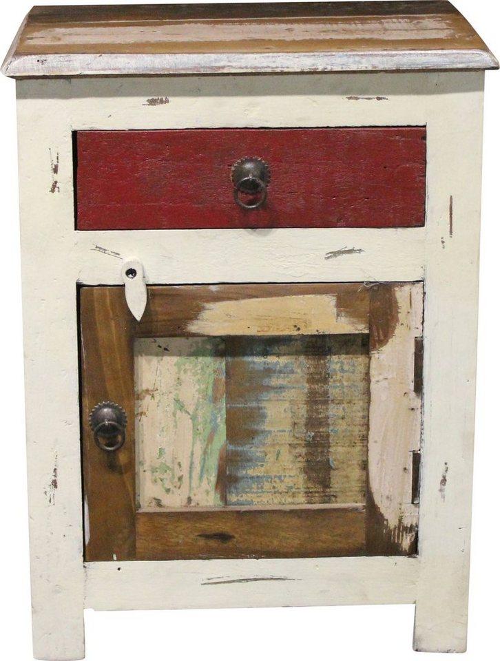 Nachttisch, Home affaire, »Shutter«, Breite 45 cm in creme/farbig