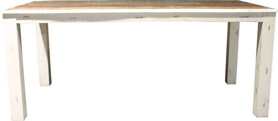 Esstisch, Home affaire, »Shutter«, Breite 180 cm in creme/farbig