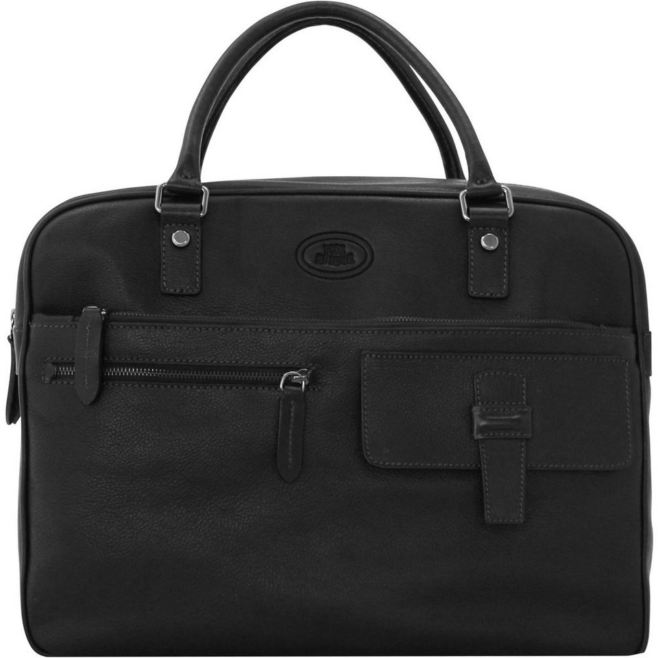 The Bridge Surrey Aktentasche Leder 38 cm Laptopfach in nero