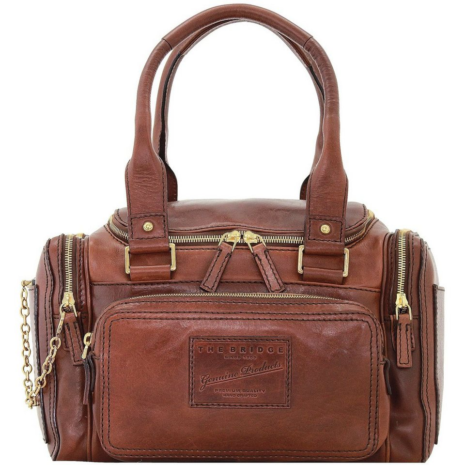 The Bridge Icons Brenda Medium Henkeltasche Leder 32,5 cm in marrone