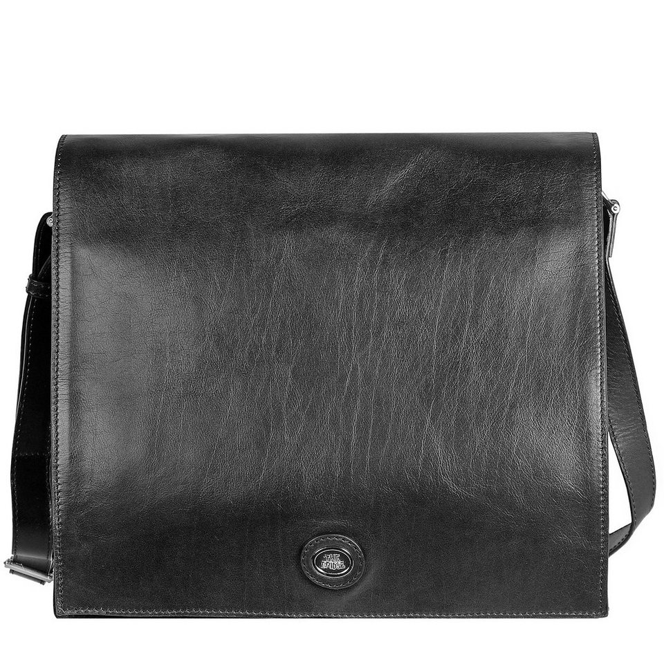 The Bridge Saddlery Uomo Messenger Leder 36 cm Laptopfach in nero