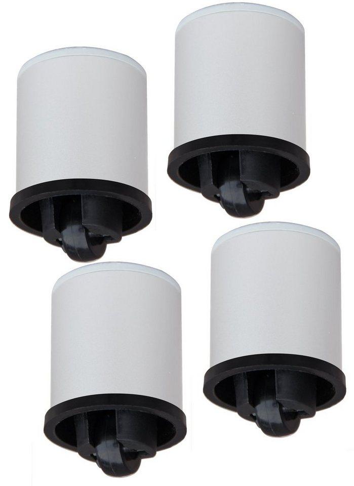 VCM 4-tlg. Rollenset Rolio für Hifi- & TV-Möbel in Aluminium