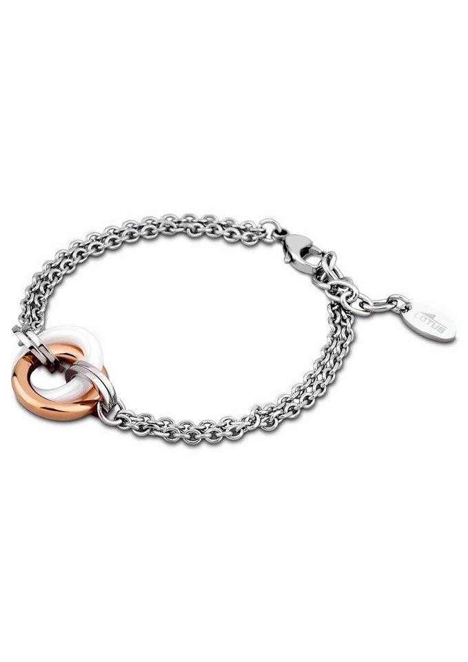 Armband, »LS1610-2/3«, Lotus Style in silberfarben/roségoldfarben/weiß