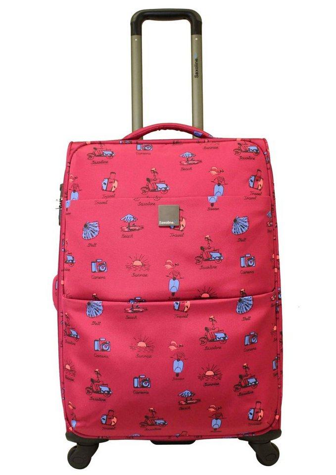 Saxoline blue, Trolley mit 2 Rollen, 49 cm, »Vespa« in pink
