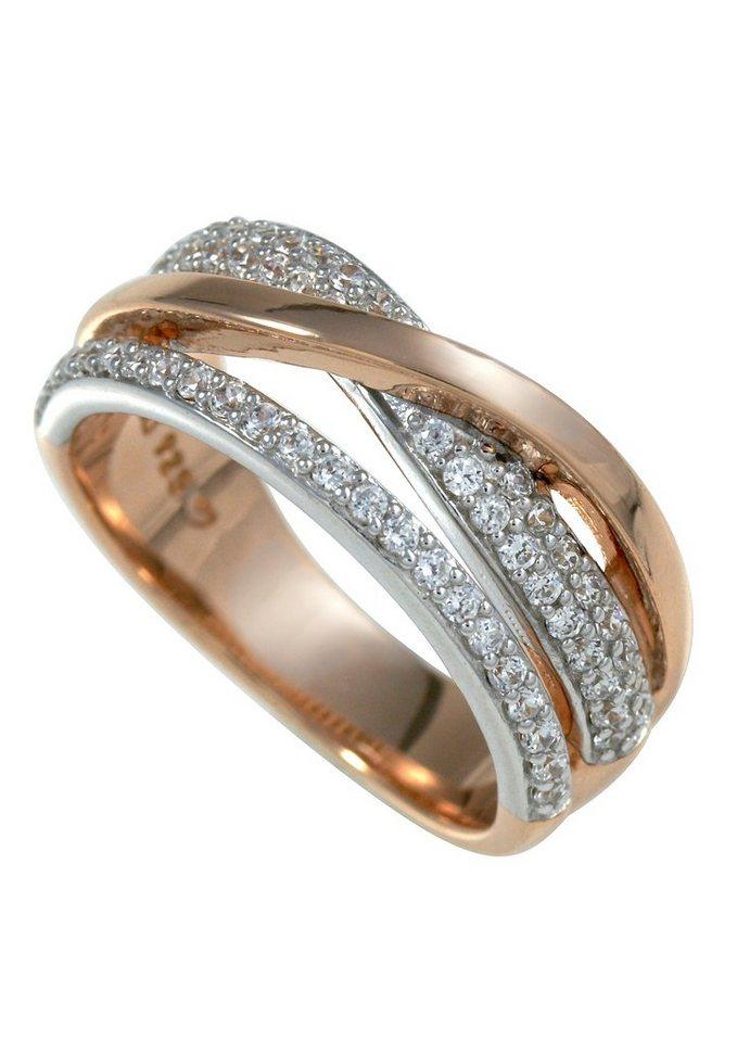 Ring, »M07 26R/90/03«, Merii in Silber 925/teilw. roségoldfarben vergoldet
