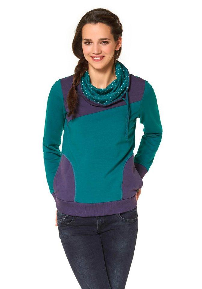 Ocean Sportswear Sweatshirt in Petrol-Lila