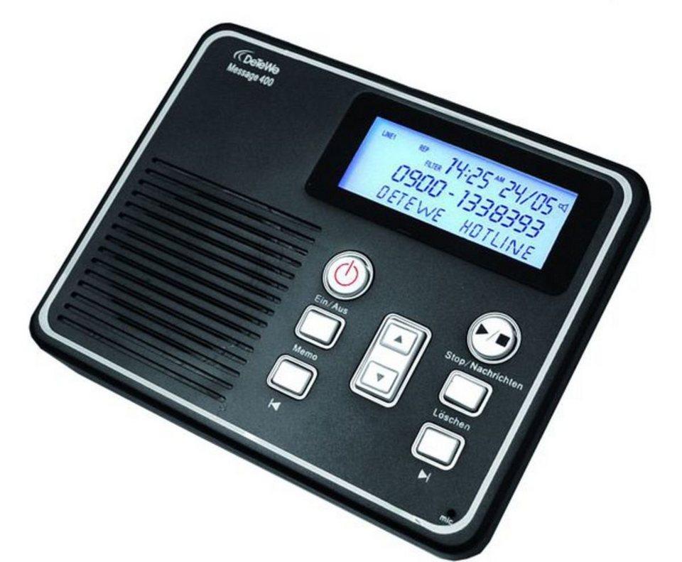 DeTeWe Anrufbeantworter »Message 400« in Schwarz