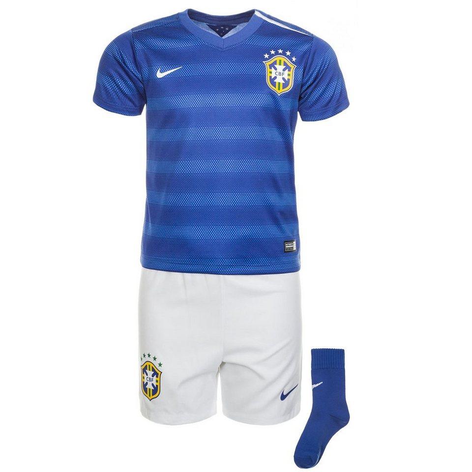 NIKE Brasilien Babykit Away Stadium WM 2014 Kinder in blau / weiß