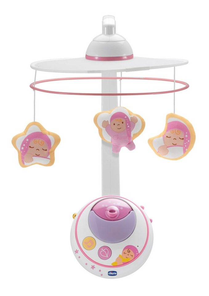 Chicco®, Mobile mit Sternenhimmelprojektor in blau oder rosa in rosa