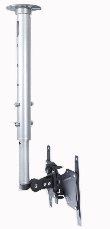 """VCM Universelle Decken-Halterung """"TDH3"""" / Höhenverstellbar von 43 - in silber / schwarz"""