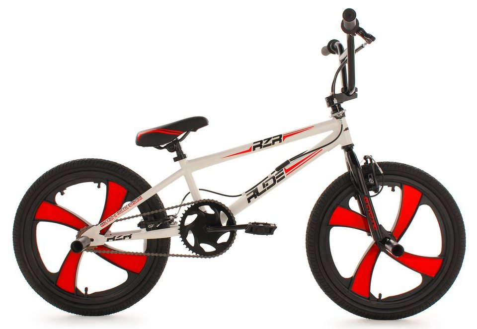 bmx fahrrad 20 zoll wei mag wheels rude ks cycling. Black Bedroom Furniture Sets. Home Design Ideas