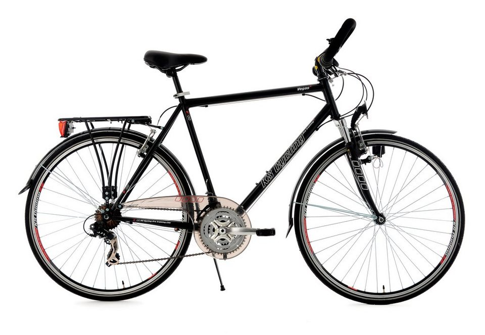 herren trekkingrad 28 zoll schwarz multipositionslenker vegas 21 gang ks cycling online. Black Bedroom Furniture Sets. Home Design Ideas