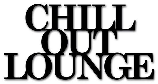 """Home affaire Wandbild »Schriftzug """"Chill out Lounge""""«, Maße (B/H): 60/30 cm"""
