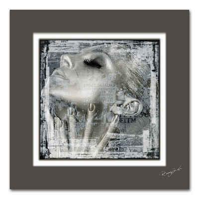 Home affaire Bild »Frauengesicht«, Maße (B/H): 50/50 cm