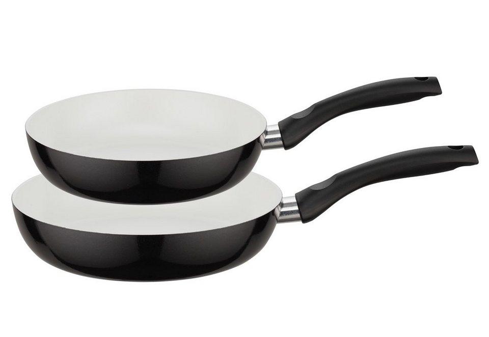 Pfannenset, »Pure Bianco«, ELO (2tlg.) in schwarz