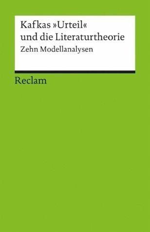 Broschiertes Buch »Kafkas 'Urteil' und die Literaturtheorie«