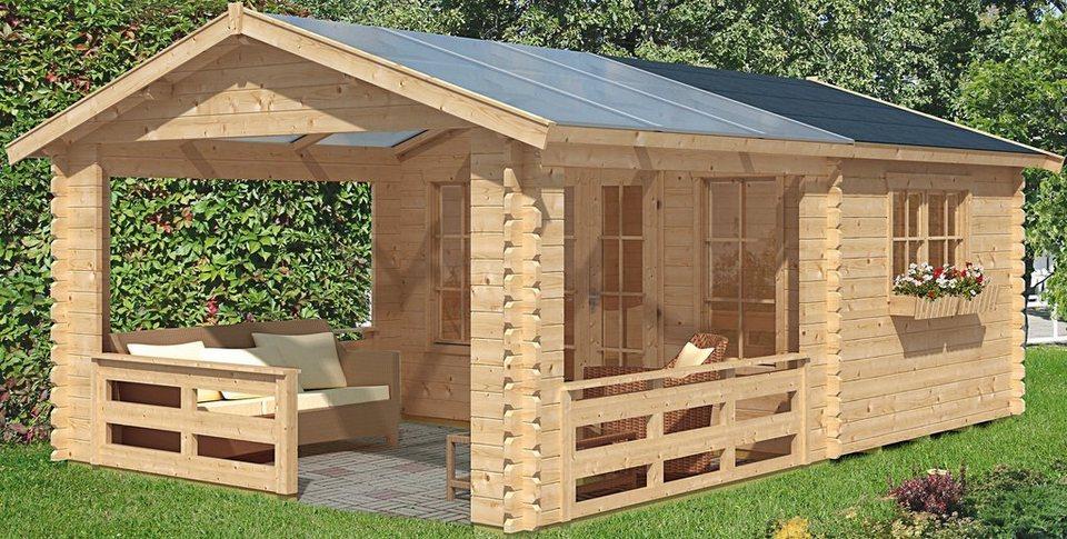 Gartenhaus »Holmestrand«, BxT: 380x610 cm in natur