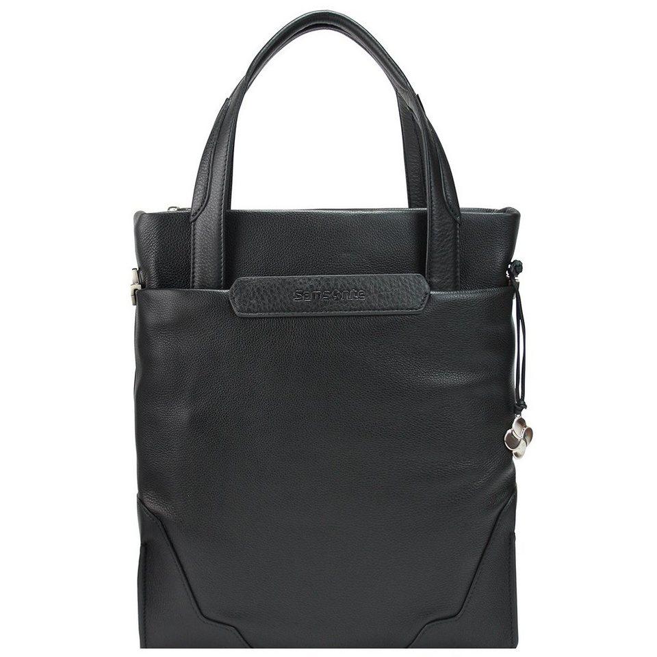 Samsonite Sidaho Business Tasche Leder 40 cm Laptopfach in black