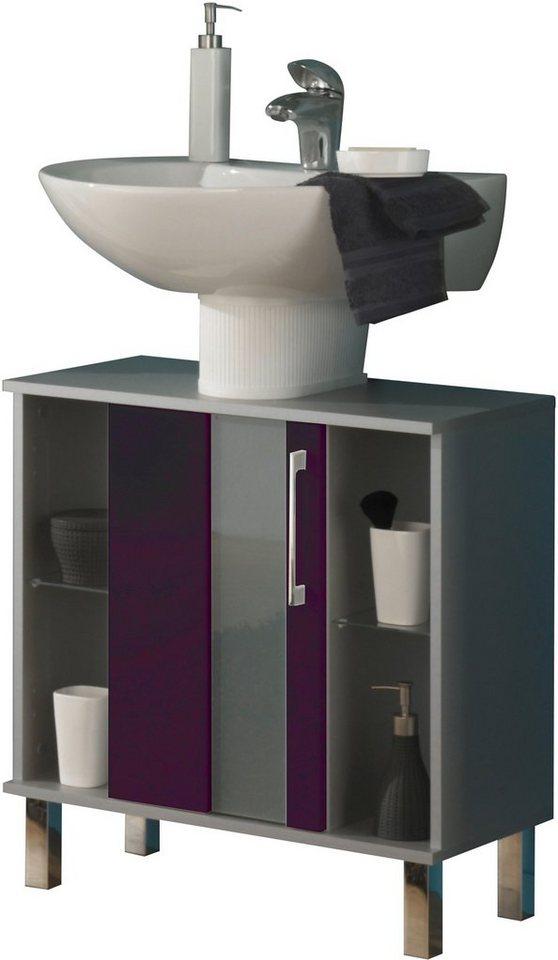 Waschbeckenunterschrank, Kesper, »Rimini« in brombeerfarben