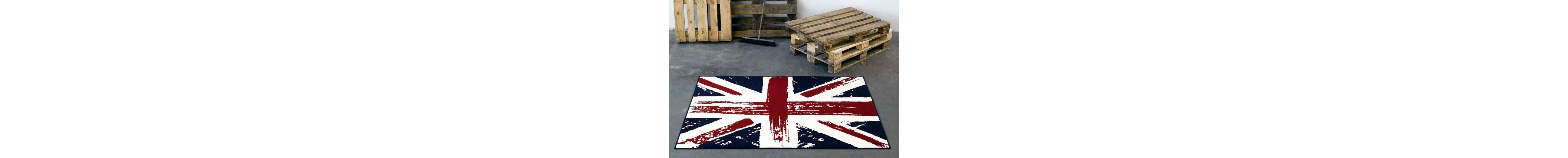 Design-Teppich, Hanse Home, »Union Jack Vintage«, gewebt, modern, Motiv-Druck