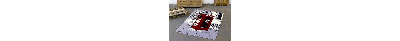 Design-Teppich, Hanse Home, »Telefonzelle«, modern, gewebt, Motiv-Druck