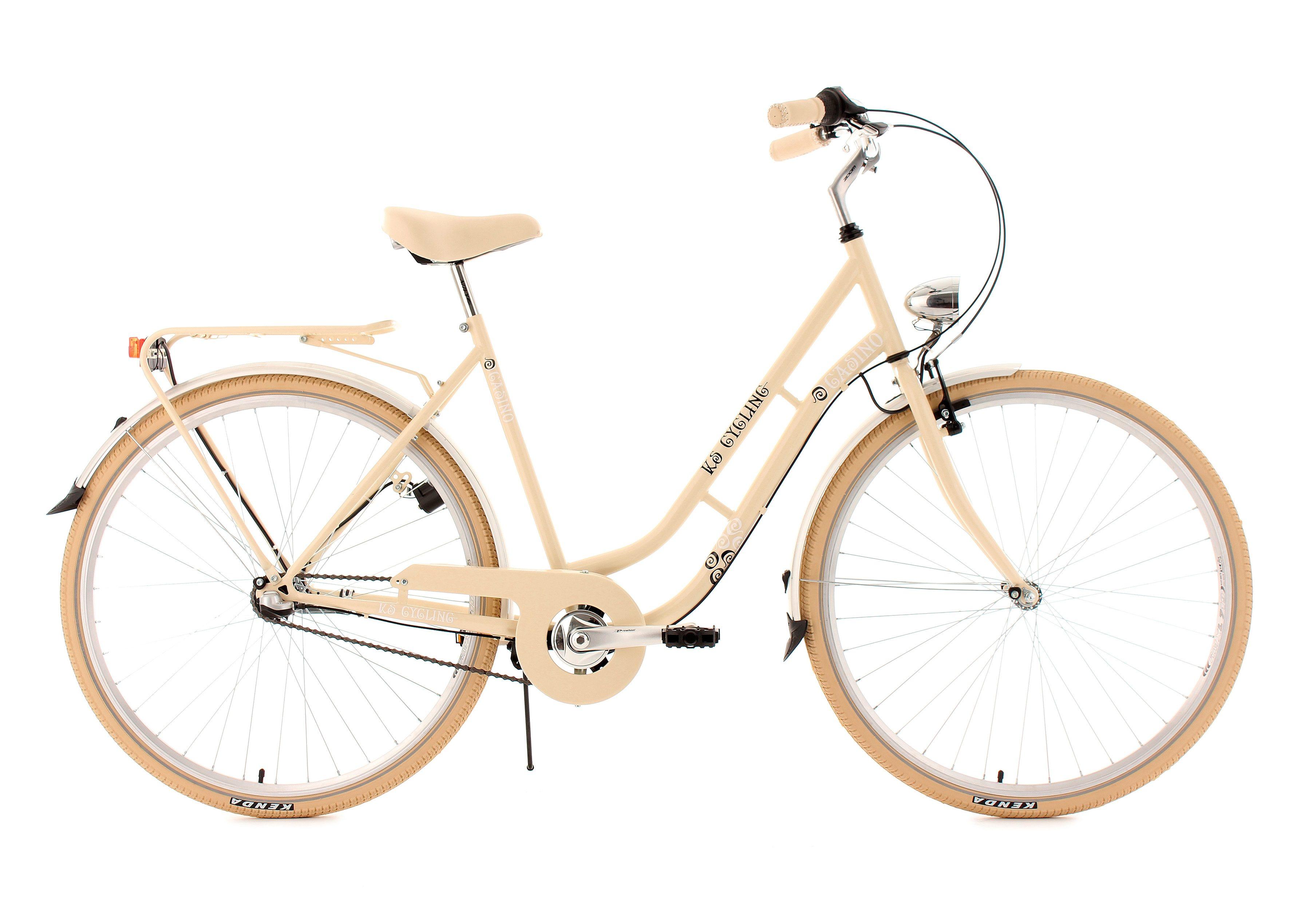 Citybike, 28 Zoll, beige, 3 Gang Nabenschaltung, »Casino«, KS Cycling