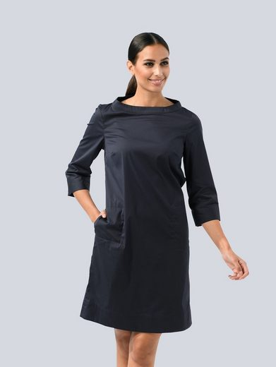 Alba Moda Blusenkleid in edler Baumwoll-Stretch Ware