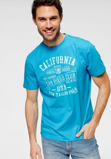 TOM TAILOR Polo Team T-Shirt mit markantem Print