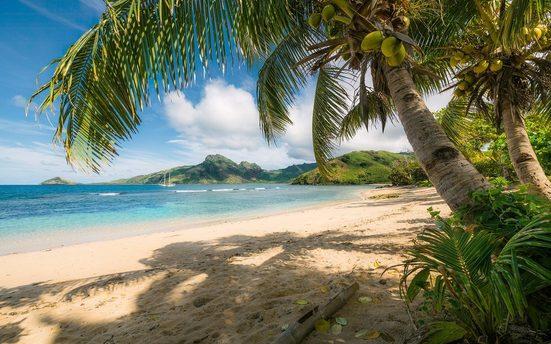Komar Fototapete »Strandoase Südsee«, glatt, mehrfarbig, natürlich, bedruckt, (9 St)