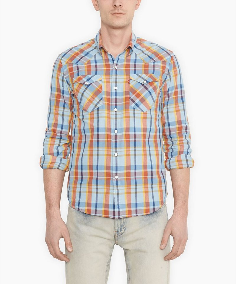 Levi's® Hemd »L/S Barstow Western Shirt« in blue