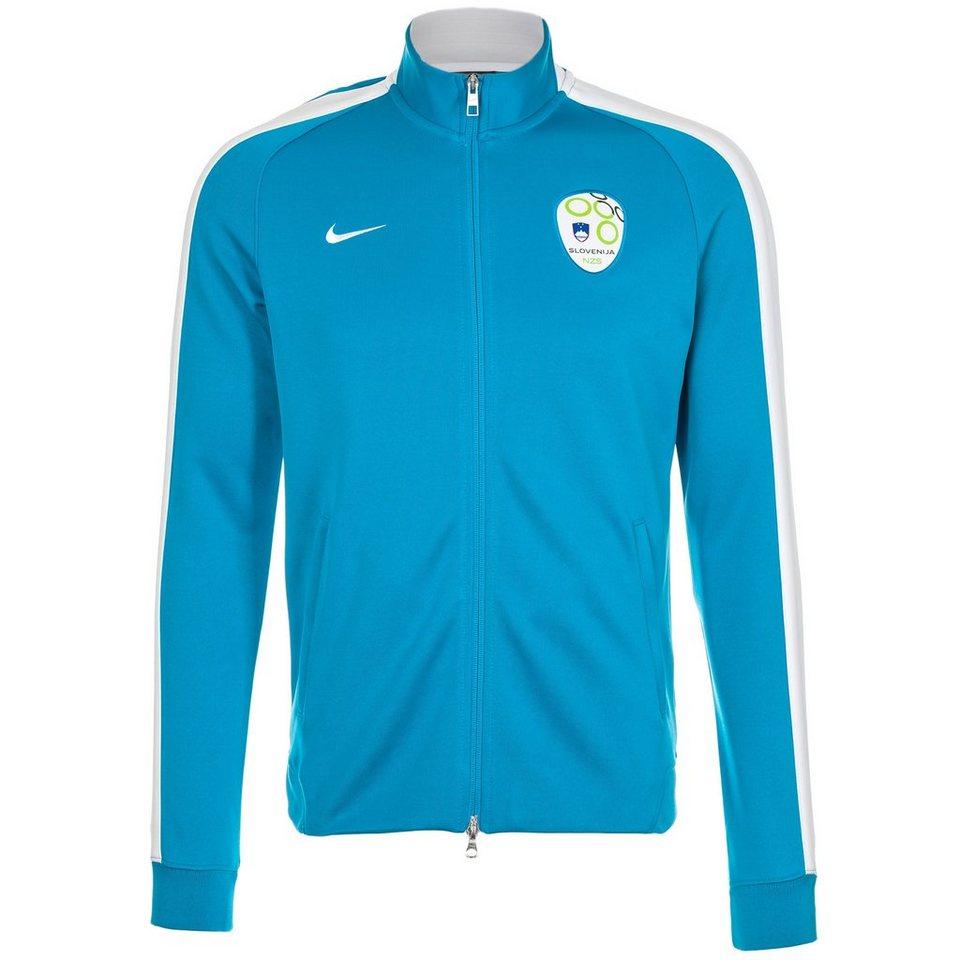 NIKE Slowenien N98 Authentic Trainingsjacke Herren in blau / weiß