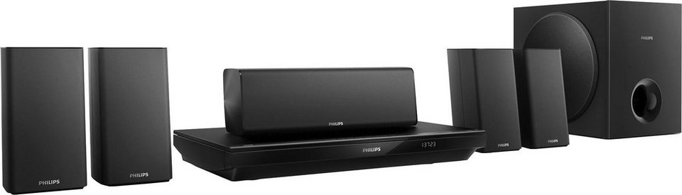 Philips HTB3520G/12 5.1 Heimkinosystem (Blu-ray-Player, 1.000 W, Bluetooth, NFC) in schwarz