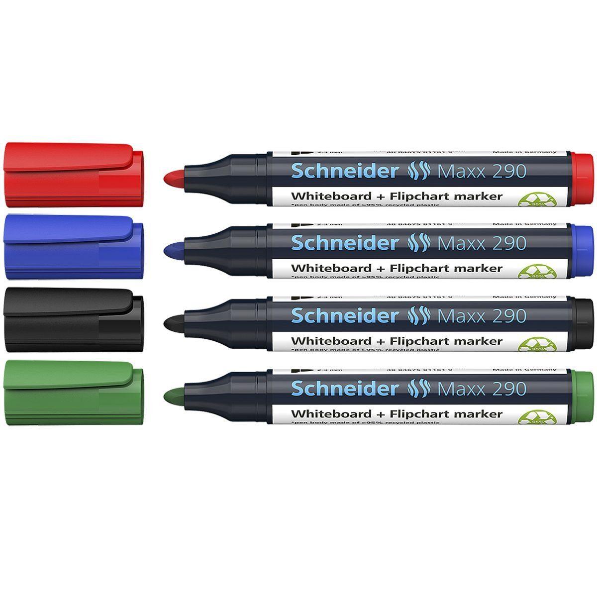 Schneider 4er-Etui Whiteboard & Flipchart Marker »Maxx 290...