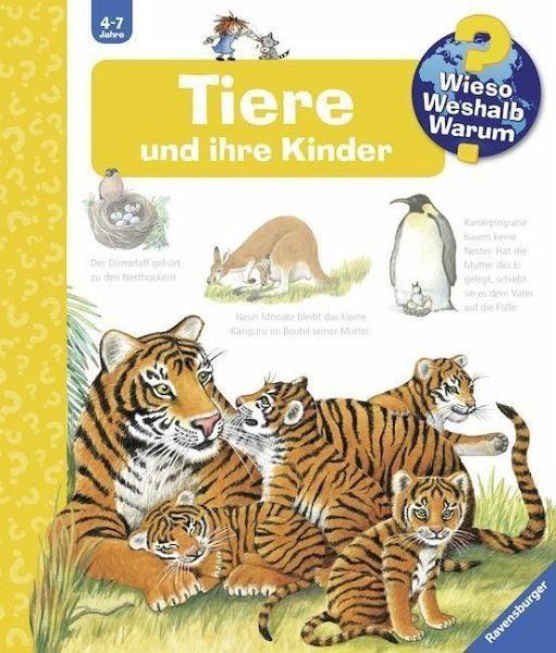 Buch mit Papp-Einband »Tiere und ihre Kinder / Wieso? Weshalb? Warum?...«
