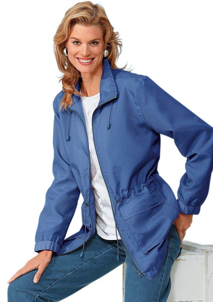 Jacke mit praktischem Tunnelzug in der Taille in jeansblau