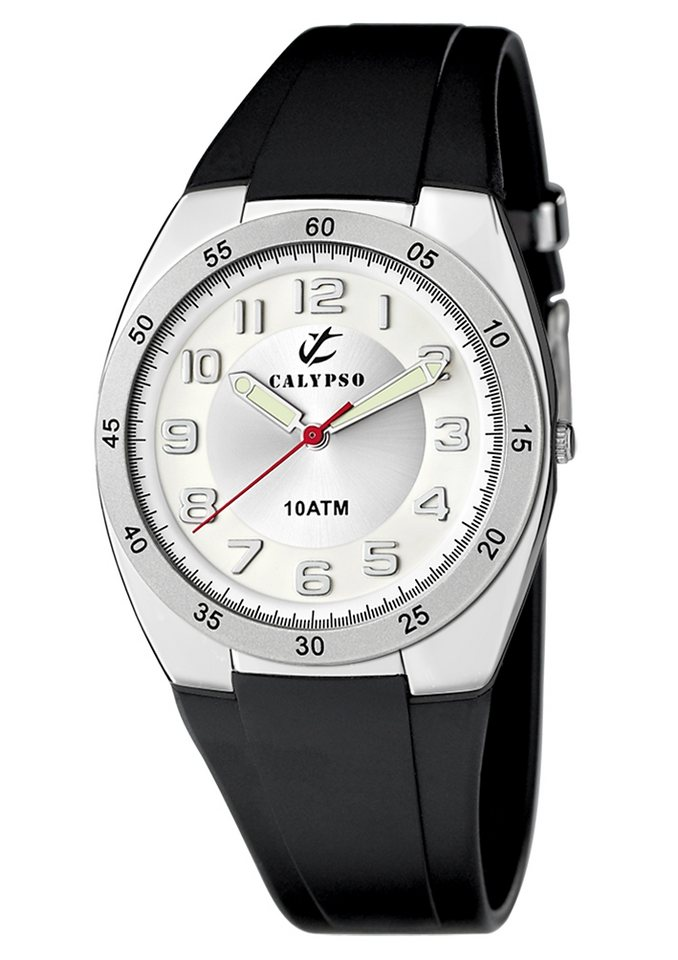 CALYPSO WATCHES Quarzuhr »K6044/A« mit 2 Leuchtzeiger in schwarz
