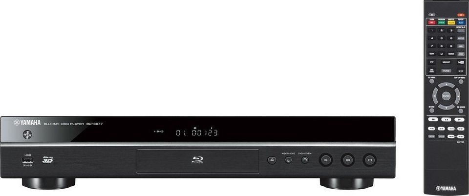 Yamaha BD-S677 3D Blu-ray-Player in Schwarz