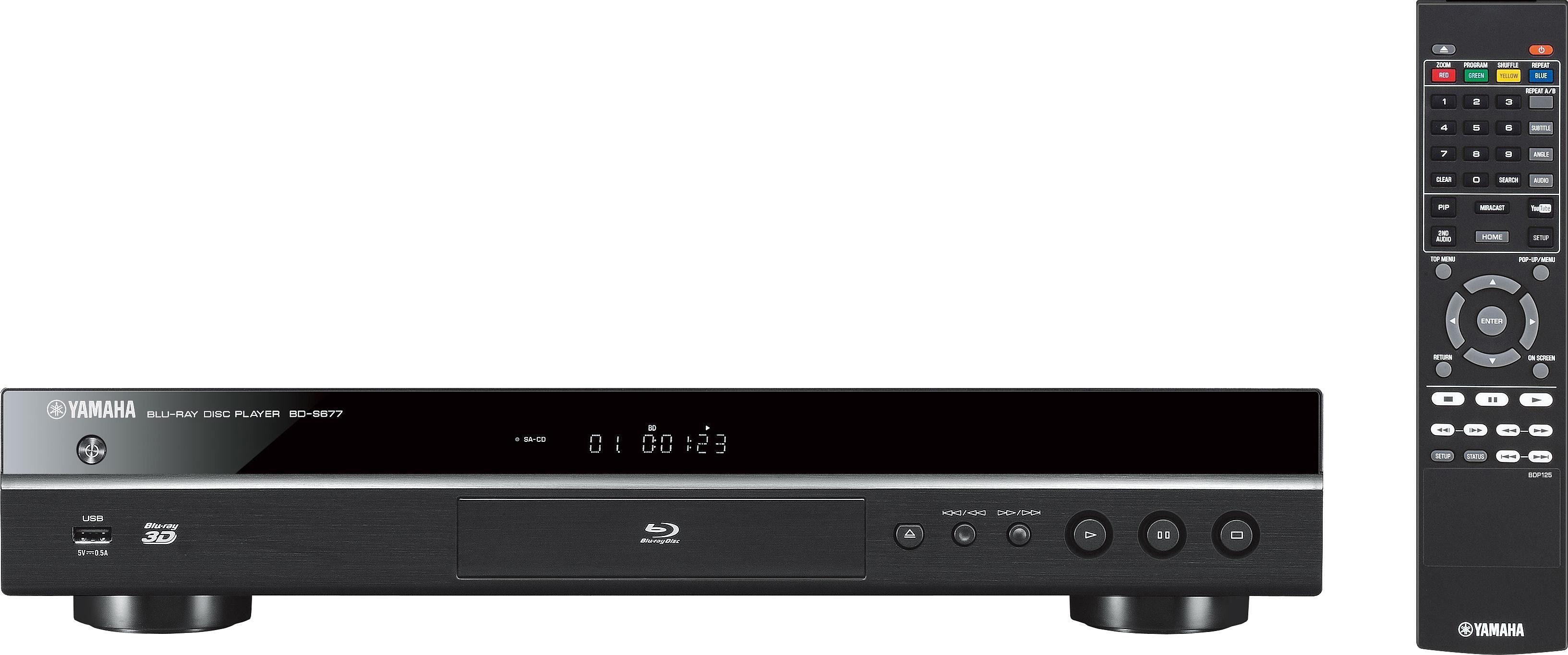Yamaha BD-S677 3D Blu-ray-Player, 3D-fähig, 1080p (Full HD), WLAN