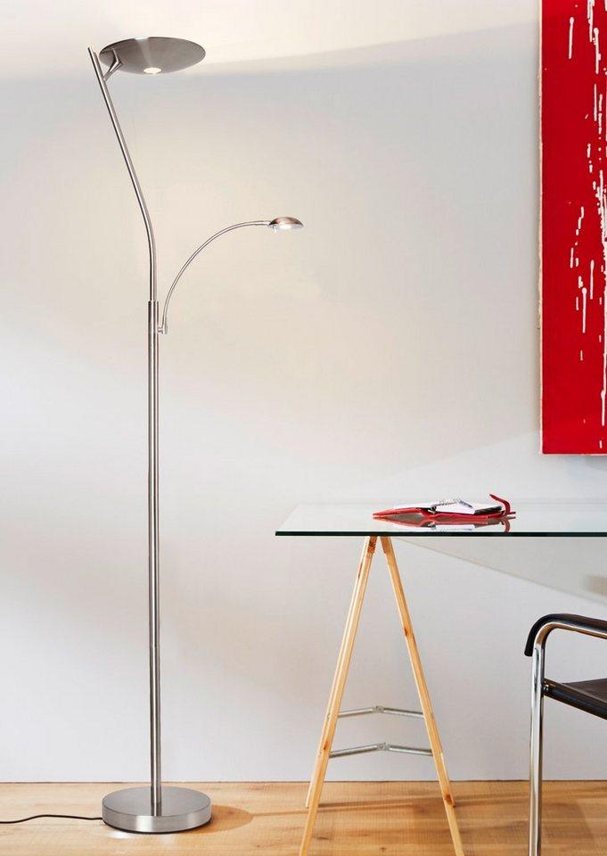 LED-Deckenfluter, Brilliant Leuchten in silberfarben