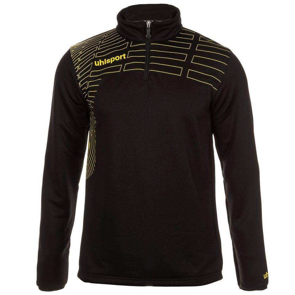 UHLSPORT Match 1/4 Zip Top Herren in schwarz/limonen gelb
