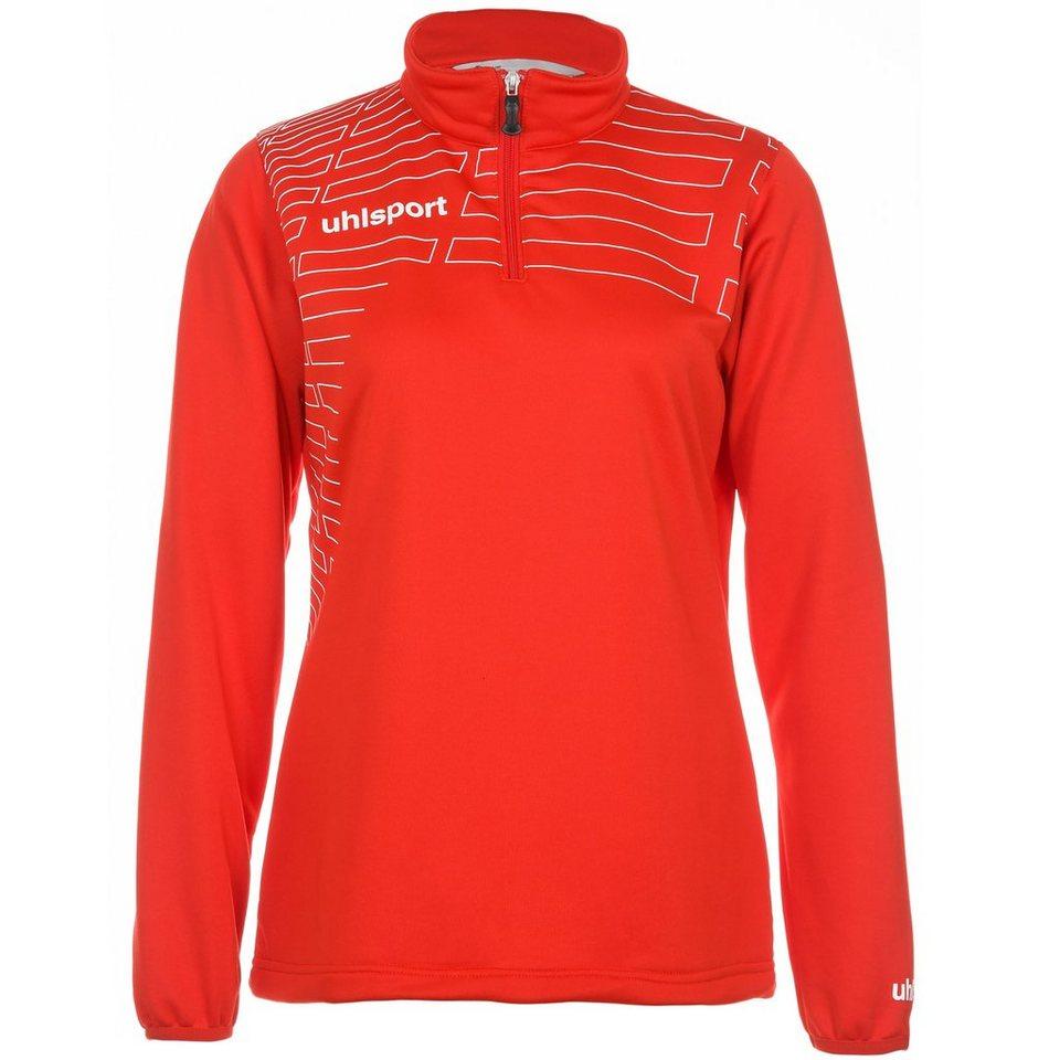 UHLSPORT Match 1/4 Zip Top Damen in rot/weiß
