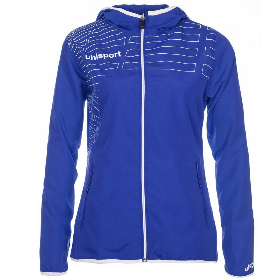 UHLSPORT Match Präsentationsjacke Damen in azurblau/weiß
