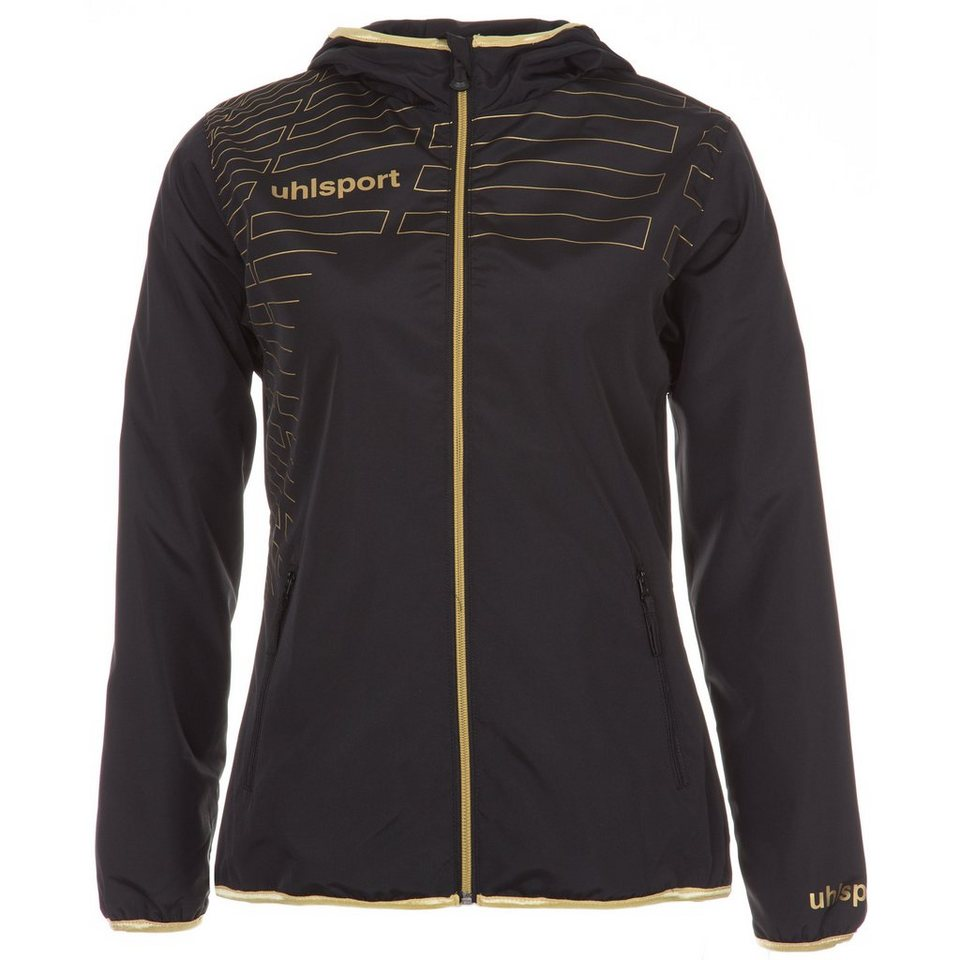 UHLSPORT Match Präsentationsjacke Damen in schwarz/gold