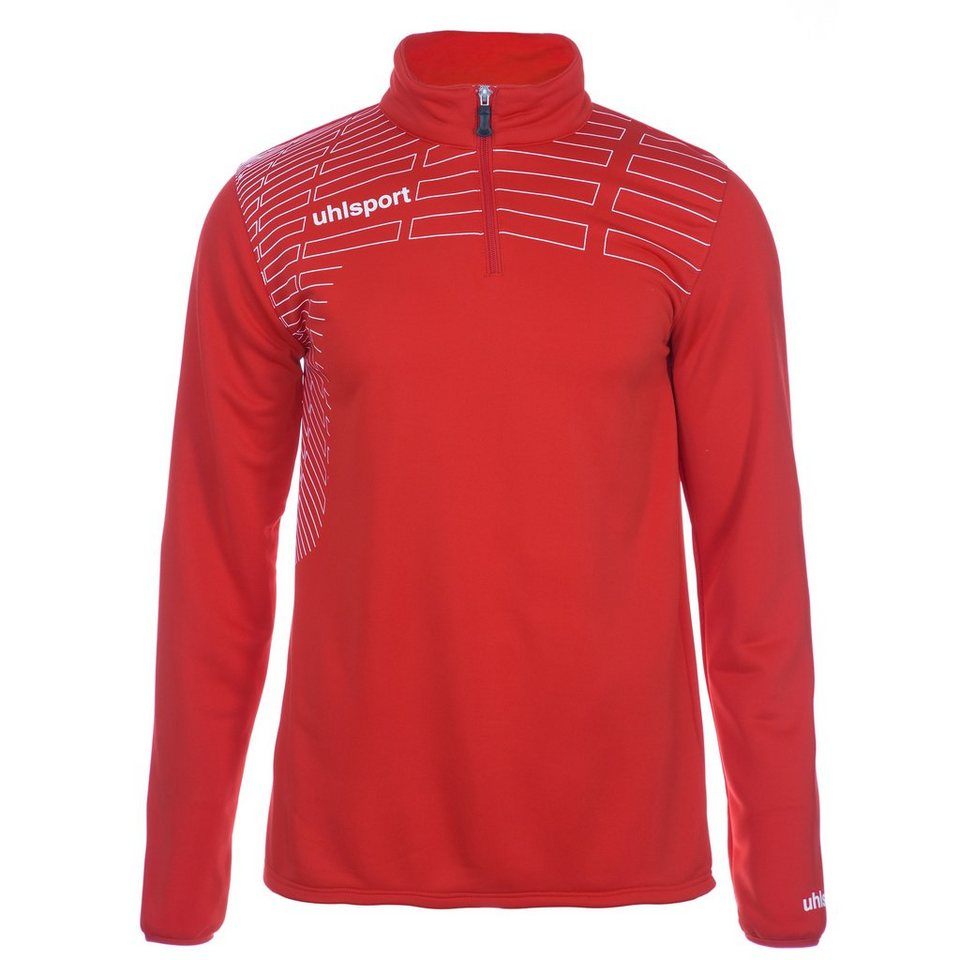 UHLSPORT Match 1/4 Zip Top Kinder in rot/weiß