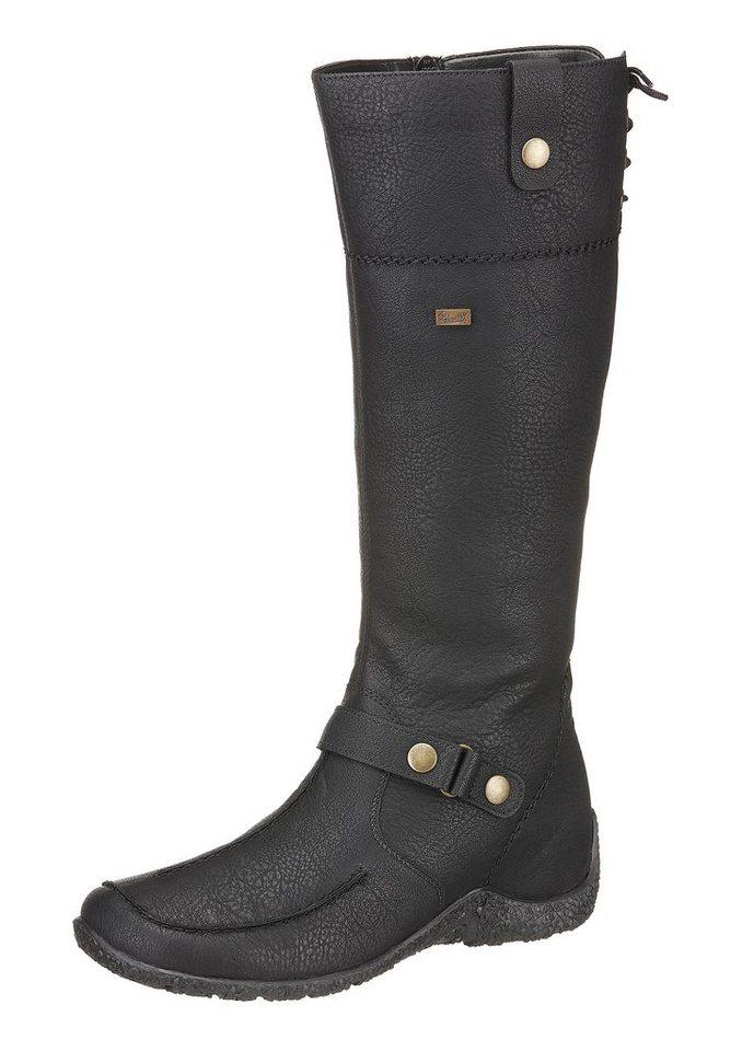 Stiefel von Rieker mit variablen Normalschaft in schwarz