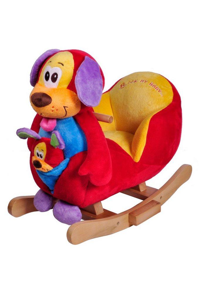 Schaukeltier mit Soundmodul, »Hund Tim«, knorr toys in bunt