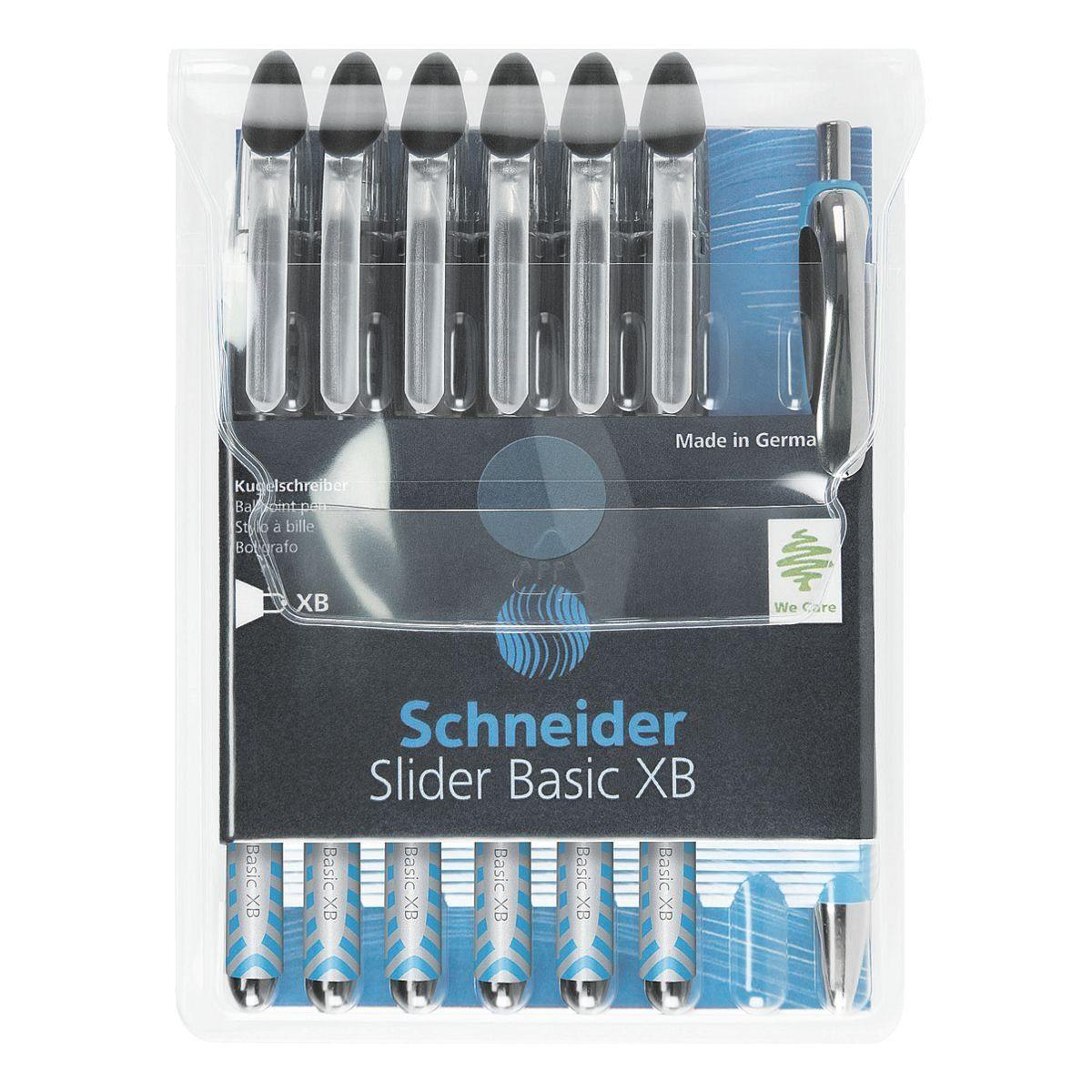 SCHNEIDER 6er-Set Kugelschreiber 1512 mit Kugelschreiber »Slider XB«