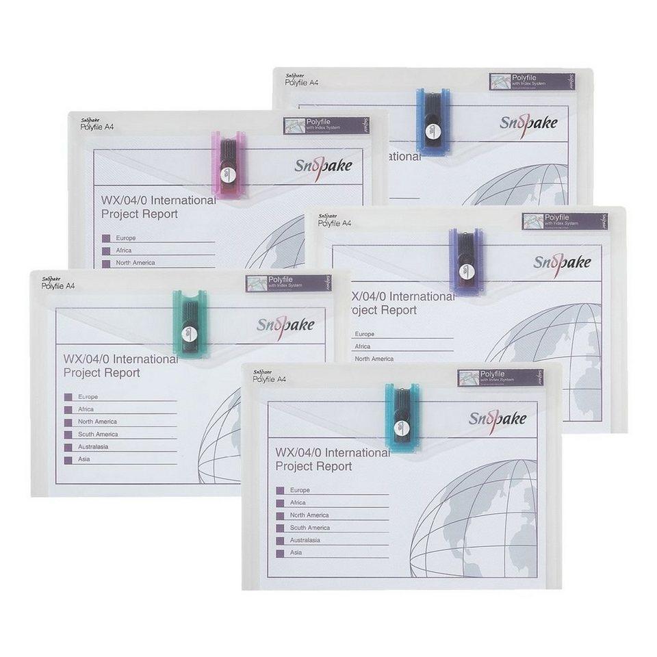 SNOPAKE Dokumententaschen in farbig sortiert