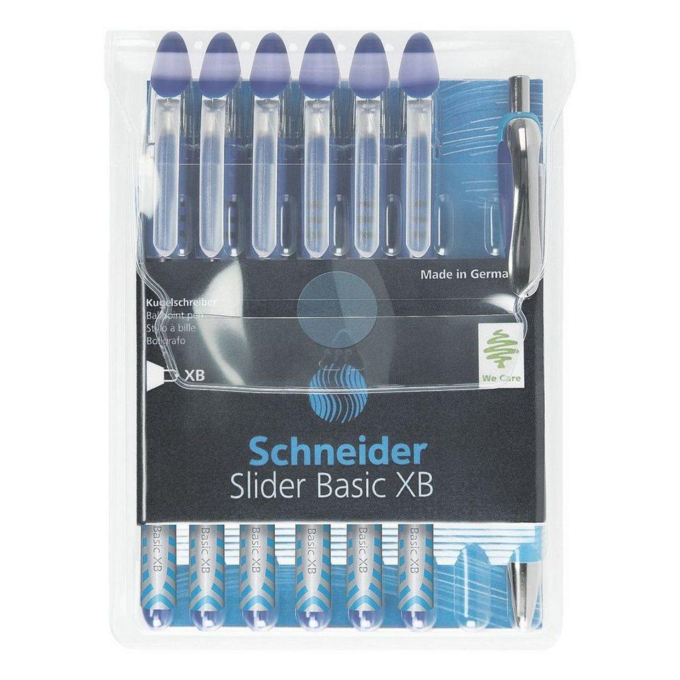 Schneider 6er-Set Kugelschreiber »Slider XB« mit Kugelschreib... in blau